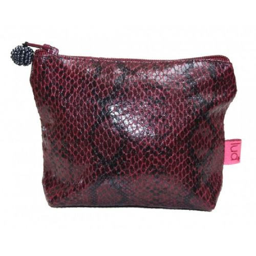 Lua Designs Snakeskin Mini Coin Purse in Plum